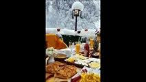 Prendre son petit dejeuner dans cet endroit merveilleux... Alpes Suisses