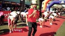 73 AÑOS SPIEGEL.Spiegel celebro sus 73 años con actividades para la familia, como la carrera caminata, zumba, pilates con Mónica Guzmán, el payaso pindin y el