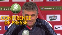 Conférence de presse Stade Brestois 29 - Nîmes Olympique (0-2) : Jean-Marc FURLAN (BREST) - Bernard BLAQUART (NIMES) - 2017/2018