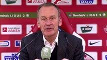 Réaction de Jean-Marc Furlan et Bernard Blaquart après Stade Brestois 29 - Nîmes Olympique