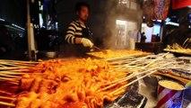 KOREAN STREET FOOD - Myeongdong Street Food Tour in Seoul South Korea - CRAZY Korean Food + SEAFOOD