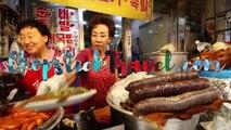 KOREAN STREET FOOD - Gwangjang Market Street Food Tour in Seoul South Korea - BEST Spicy Korean Food