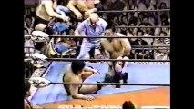 Jumbo Tsuruta/Great Kabuki/Yoshiaki Yatsu vs Genichiro Tenryu/Stan Hansen/Toshiaki Kawada (All Japan August 27th, 1989)