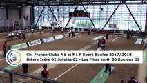Premier tour, tir rapide en double, finale N1F Les Filias contre Romans, N1 Bièvre Isère contre Satolas, France Clubs 2018, Balaruc-les-Bains 2018
