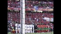 Ο Εθνικός Ύμνος από τους Παίκτες της Εθνικής Ελλάδος στον ευρωπαϊκό τελικό 2004 στην Πορτογαλία - hellas euro 2004 finale - europe champions 2004 - greek euro 2004 - euro 2004 portogal - finale 2004 cup - greek hymn-zagorakis vs ronaldo-greece vs portogal