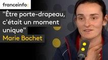 """""""Etre porte-drapeau, c'était un moment unique"""", raconte Marie Bochet, quadruple médaille d'or aux Jeux paralympiques 2018"""