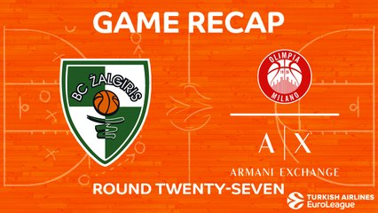 EuroLeague 2017-18 Highlights Regular Season Round 27 video: Zalgiris 77-65 Milan