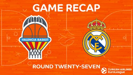 EuroLeague 2017-18 Highlights Regular Season Round 27 video: Valencia 96-88 Madrid