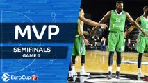 7DAYS EuroCup Semifinals Game 1 MVP: Michael Eric, Darussafaka Istanbul