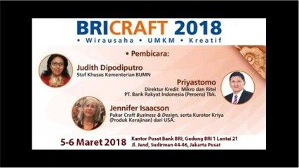 BRI CRAFT 2018 - HARI PERTAMA SESION 2