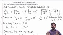 Partial Differential Equations Lecture #15 Step to Solve Homogeneous Linear Differential Equation
