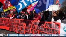 Le 18:18 : grèves et manifestations, forte mobilisation dans la région