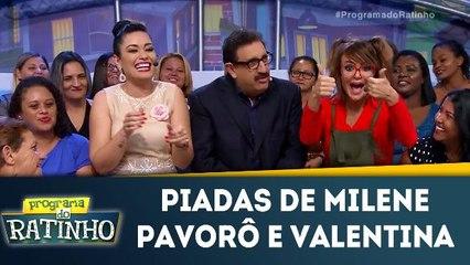 Milene Pavorô e Valentina contam piadas
