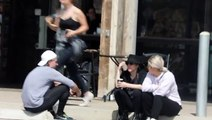 Lady Gaga Has A Deep Conversation With Christian Carino Outside A Supermarket