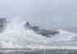 Waves Crash on Jersey Shore During Nor'easter