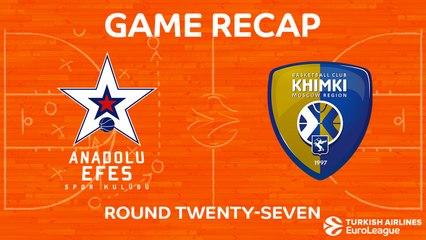 EuroLeague 2017-18 Highlights Regular Season Round 27 video: Efes 73-85 Khimki
