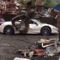 Une Ferrari finit en miettes à la casse alors qu'elle n'avait pas été volée