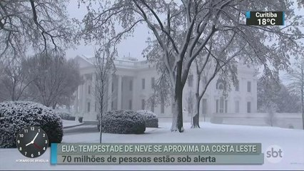 Nova tempestade de neve atinge os EUA nesta quarta-feira