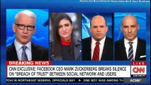 "CNN Exclusive: Facebook CEO Mark Zuckerberg breaks silence on ""Breach of Trust"" between social network and users. #CNN #BreakingNews #Breaking #News #Facebook #MarkZuckerberg #SocialMedia #Social #Media #AndersonCooper"