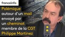 """Polémique autour d'un mail envoyé par un cheminot membre de la CGT """"Monsieur Pépy met de l'huile sur le feu (...) Accuser les cheminots de vouloir saboter leur entreprise, c'est très grave"""""""