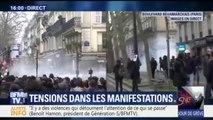 A Paris, des heurts en tête de cortège de la manifestation