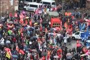 Grève du 22 mars - le cortège strasbourgeois