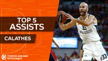 2017-18 Top 5 Assists by Nick Calathes