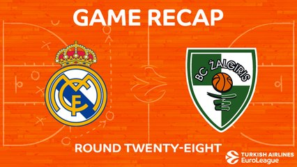 EuroLeague 2017-18 Highlights Regular Season Round 28 video: Madrid 88-81 Zalgiris