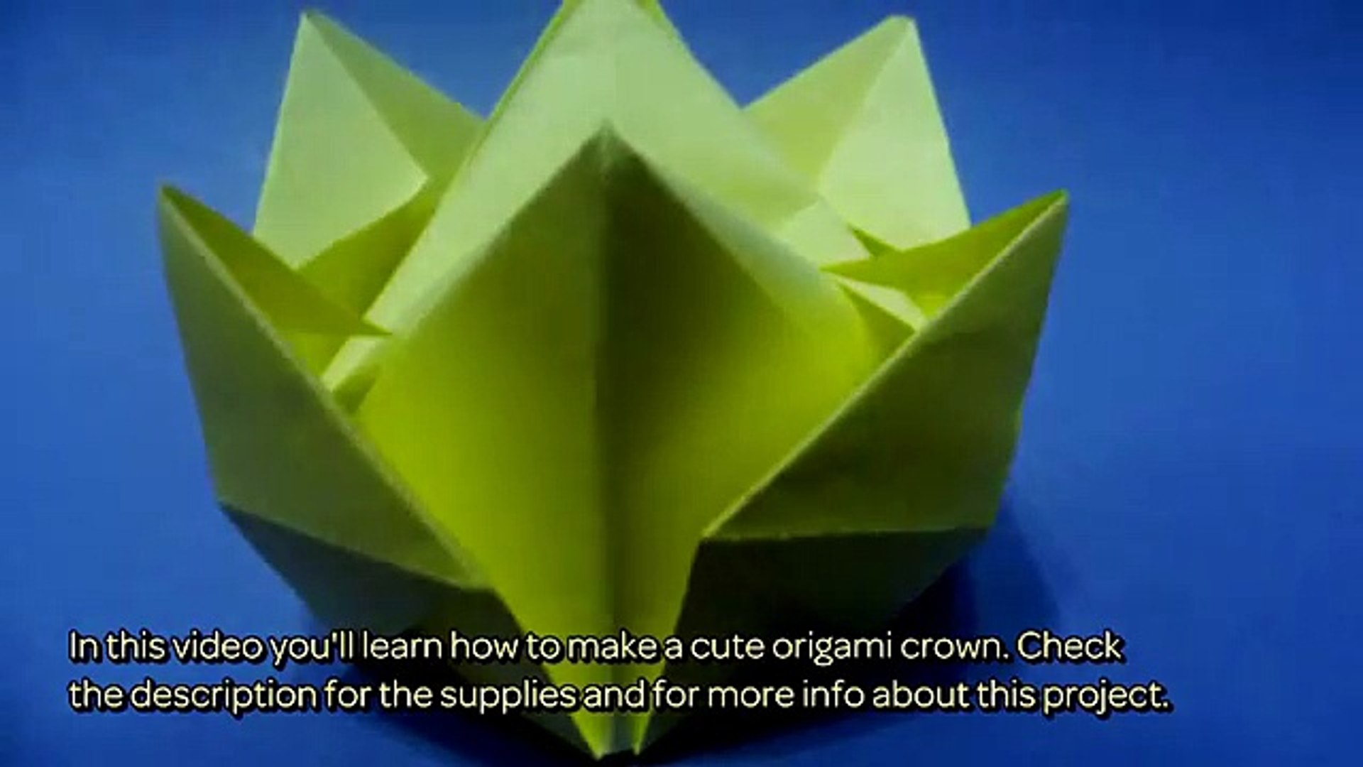 Origami Tutorial - How to fold an Easy paper Origami crown - YouTube | 1080x1920
