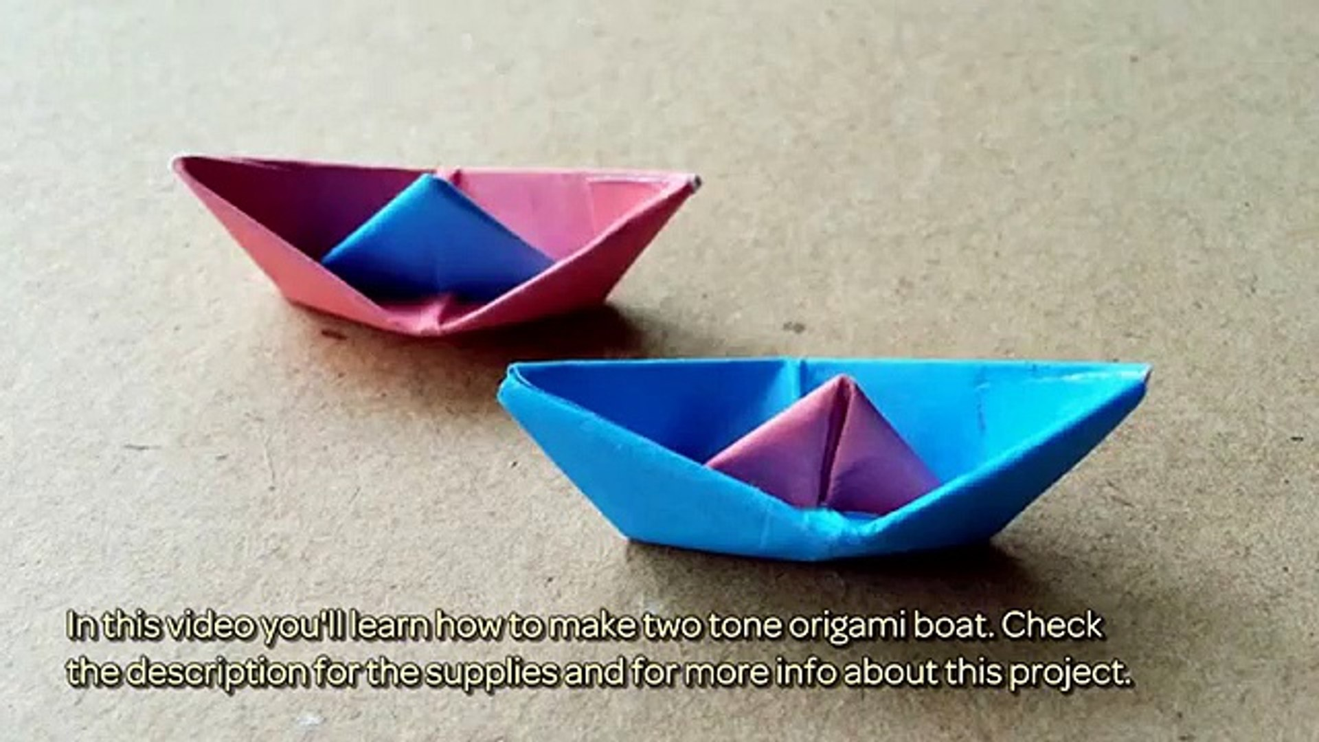 How to Make a Paper Boat - Origami for Kids - Easy Peasy and Fun | 1080x1920