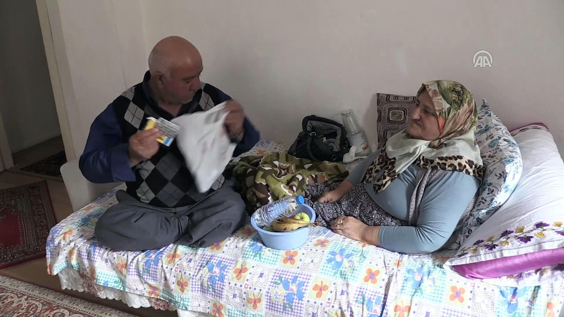 Engeline rağmen ekmeğini kazanıp hasta eşine bakıyor - NİĞDE