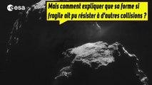 Que cache la forme bizarre de la comète Tchouri ?