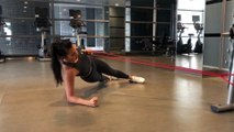 Resistance Band Workout: Side Plank Banded Rows