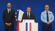 La déclaration de Macron suite à l'attaque terroriste à Carcassonne et à Trèbes.