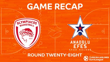 EuroLeague 2017-18 Highlights Regular Season Round 28 video: Olympiacos 89-82 Efes