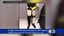 Airline Worker Gets Caught With 9 Pounds Of Cocaine Taped To His Legs!