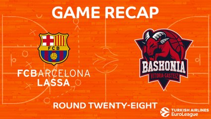 EuroLeague 2017-18 Highlights Regular Season Round 28 video: Barcelona 73-86 Baskonia