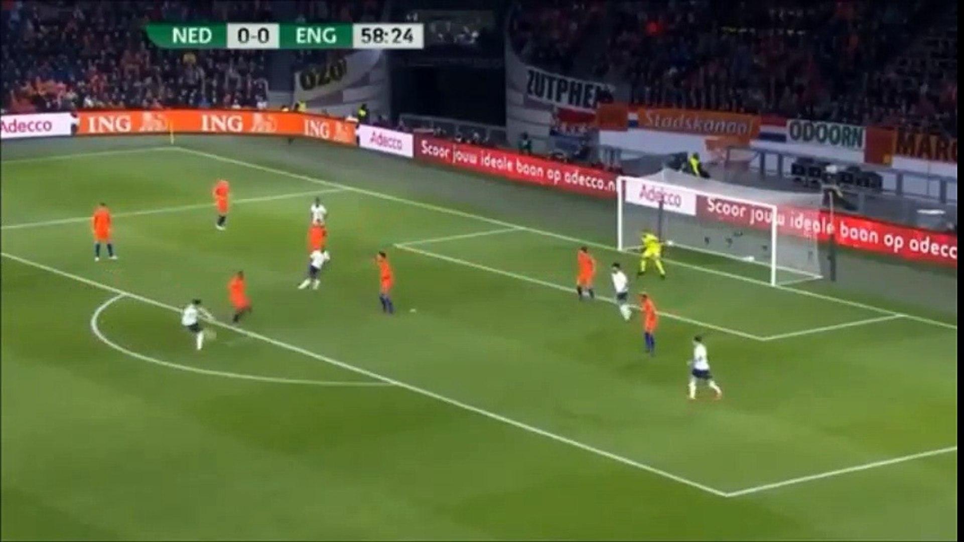23/3/2018 اهداف مباراة هولندا وانجلترا 0-1 مباراة ودية