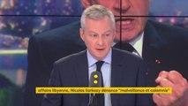 """Mise en examen de Nicolas Sarkozy : """"Je l'ai appelé pour lui dire mon amitié et mon soutien, car le moment qu'il traverse est une épreuve. La justice fera son travail"""", explique Bruno Le Maire #8h30politique"""