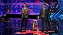 David & Leeman- Howie Mandel Can't Read When Magicians Squeeze His Skull - America's Got Talent 2014 -HD.