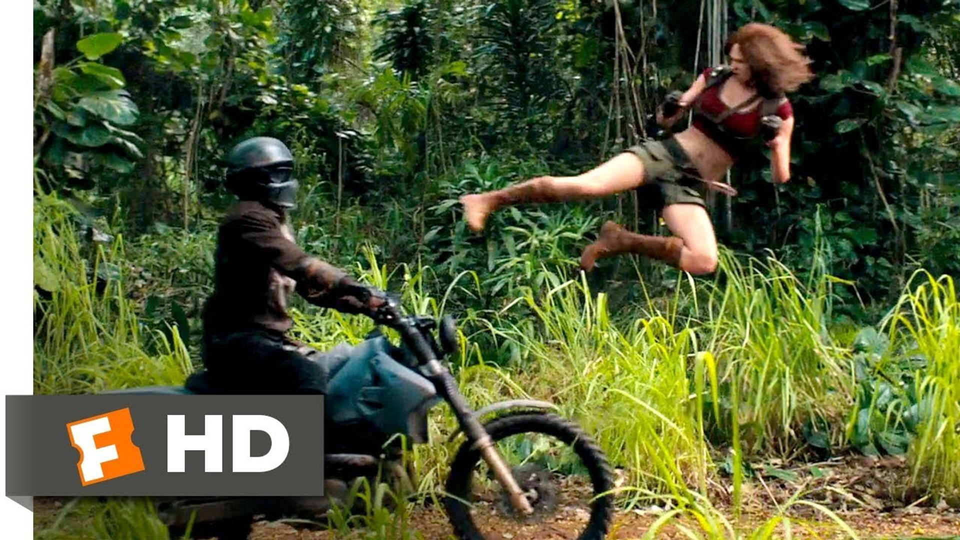 Jumanji 2 - Welcome to the Jungle (2017) - Motorcycle Assault Scene (2-10) - Hollywood Movies Englis