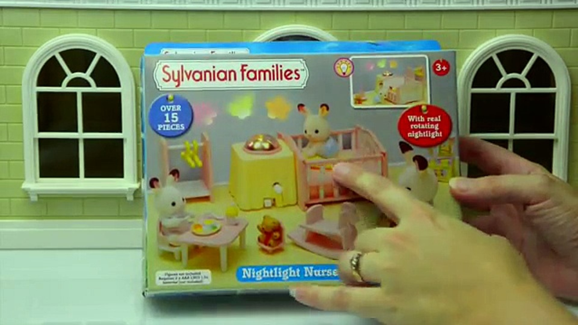 Sylvanian Families Calico Critters Nightlight Nursery Set Unboxing Set Up Cloverleaf Manor Toys Video Dailymotion