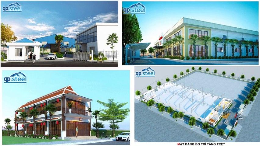 QPSteel.vn Lắp dựng nhà tiền chế tại An Giang, thiết kế thi công nhà khung thép làm kho xưởng công nghiệp