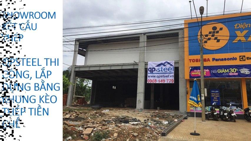 Xây dựng Nhà Kho Tiền Chế ® QPSteel thiết kế thi công lắp dựng khung kèo thép