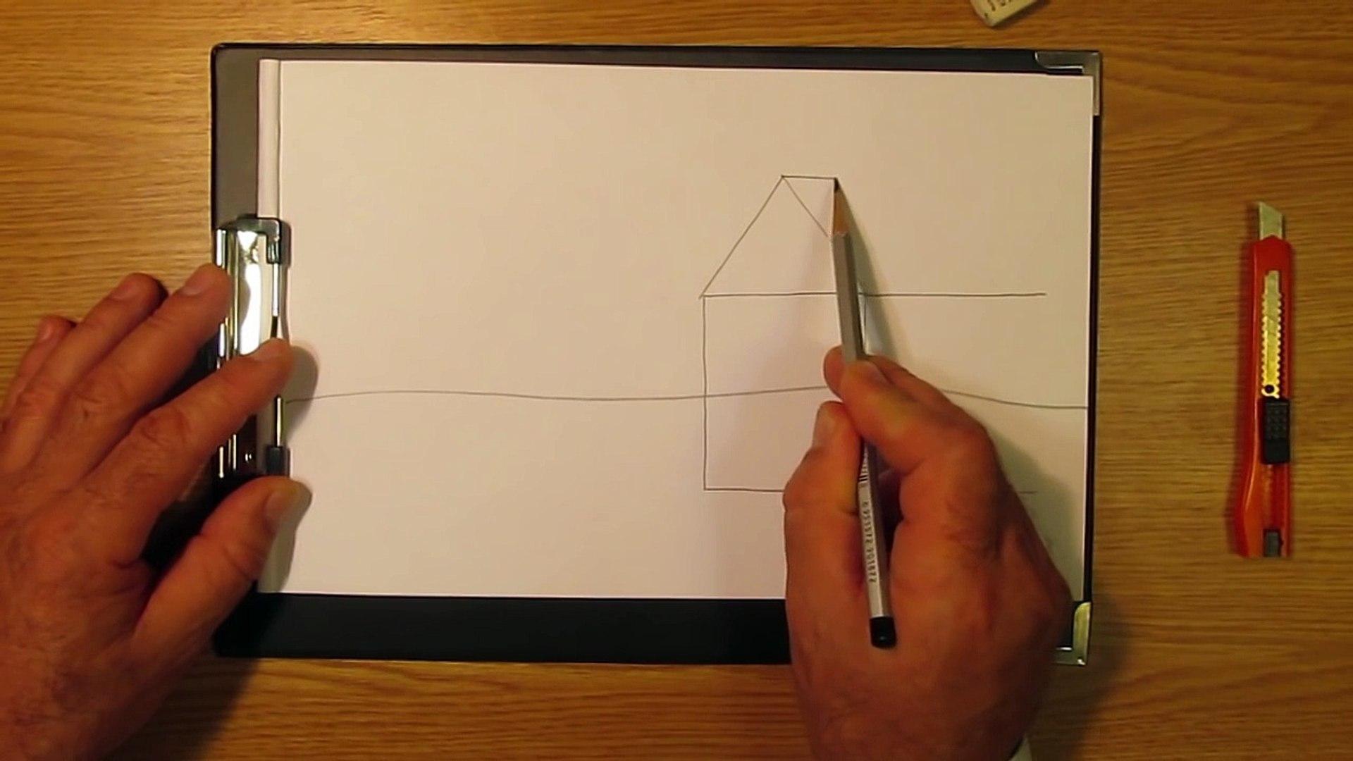 Как рисовать домик. Часть 1. Урок 7. How to draw a house. Part 1. Lesson 7