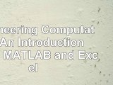 Engineering Computation An Introduction Using MATLAB and Excel 542f0f3e