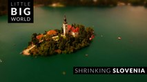 Shrinking Slovenia (4k -Time lapse - Aerial - Tilt shift)