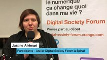 L'interactivité d'un atelier du Digital Society Forum