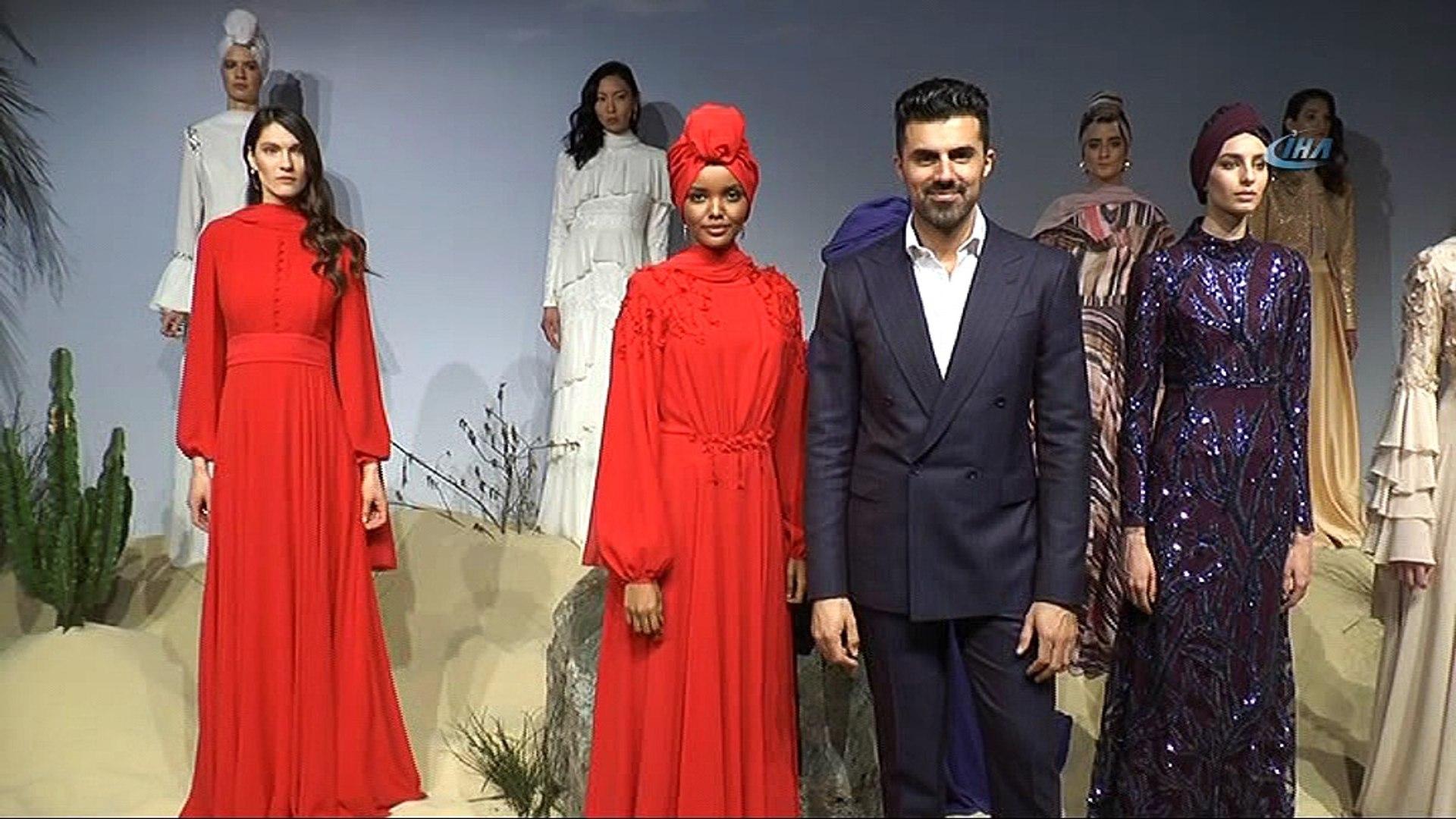 Dünyaca Ünlü tesettürlü  Top Model Halima Aden İstanbul'da podyuma çıktı- Dünyaca Ünlü tesettür