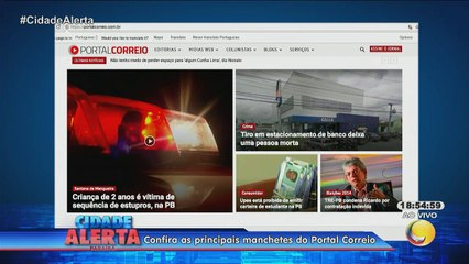 Cidade Alerta - Destaques do Portal Correio- 26-03-18